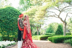 Indian couple outdoor photography before wedding ceremony