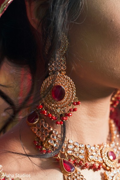 Indian bride jewelry photography