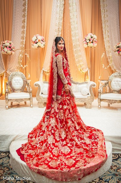 indian bride fashion,indian wedding reception floral and decor,indian bride portrait