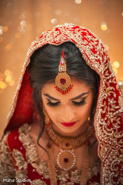 indian bride portrait,bridal tikka,indian bride hair and makeup