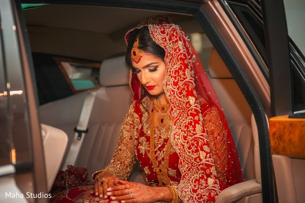 Indian bride photography after wedding reception