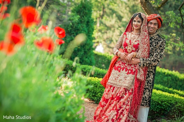 outdoor photography,indian bride and groom portrait,indian groom outfit