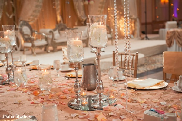 table centerpieces,indian wedding reception,indian wedding photography