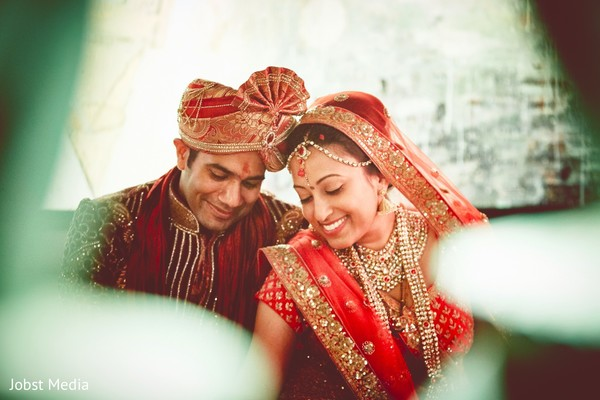 Adorable indian newlyweds.