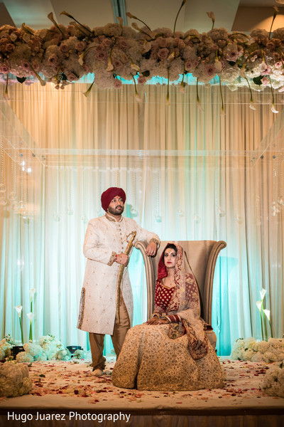 indian bride lengha,indian bride and groom portrait,indian wedding ceremony photography