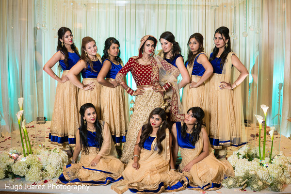 indian bridesmaids' fashion,indian bride lengha