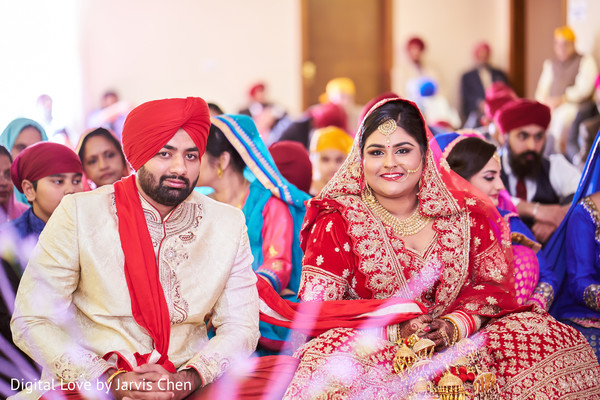 Lovely Indian couple at their wedding ceremony.