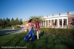 Indian couple outdoor photography after sangeet ceremony