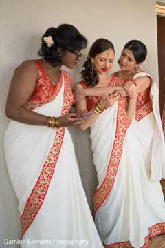 indian bridesmaids' fashion,pre-wedding ceremony photography,indian wedding gallery