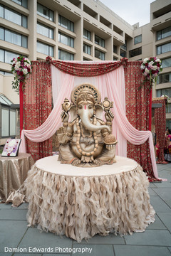 Lovely ganesh sculpture at indian wedding ceremony