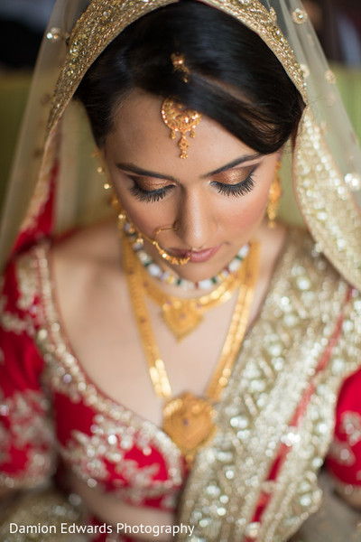 indian bride portrait,indian bridal makeup,bridal tikka