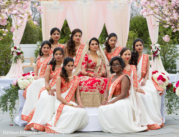 indian bridesmaids' fashion,indian bride ceremony fashion,mandap