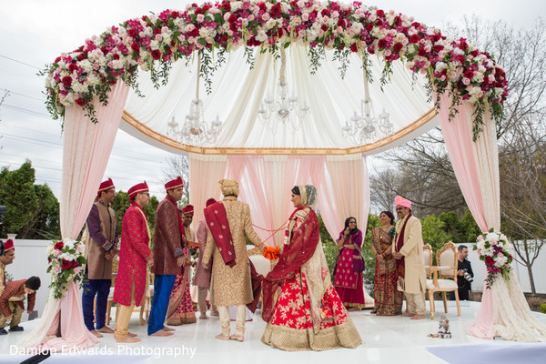 flower mandap,indian wedding decor,outdoor photography