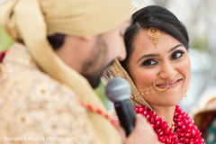 bridal tikka,indian bride hair and makeup,indian wedding ceremony floral and decor