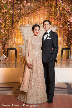 indian bride and groom portrait,indian groom fashion,indian bride hair and makeup