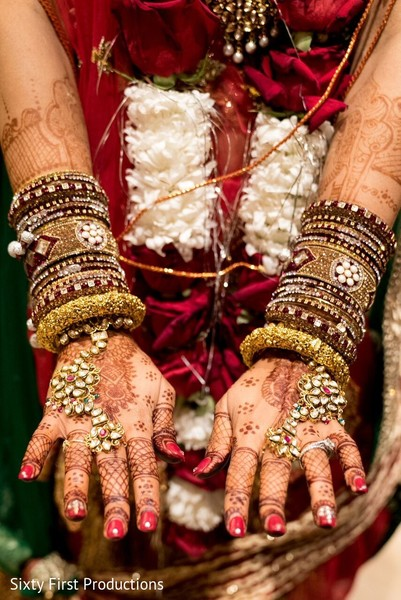 Dazzling Indian bridal bangles. in CA Indian Wedding by SixtyFirstProductions