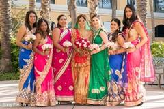 indian bride,indian bridesmaids,saris