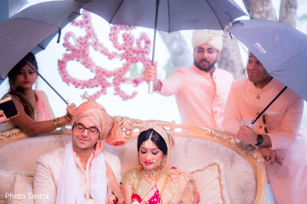 Glamorous Indian wedding.