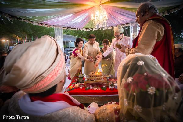 Vibrant Indian wedding ceremony.