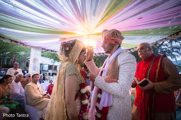 Sindhoor ritual.