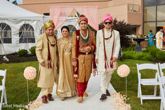 indian groom fashion,indian wedding ceremony floral and decor,indian groomsmen