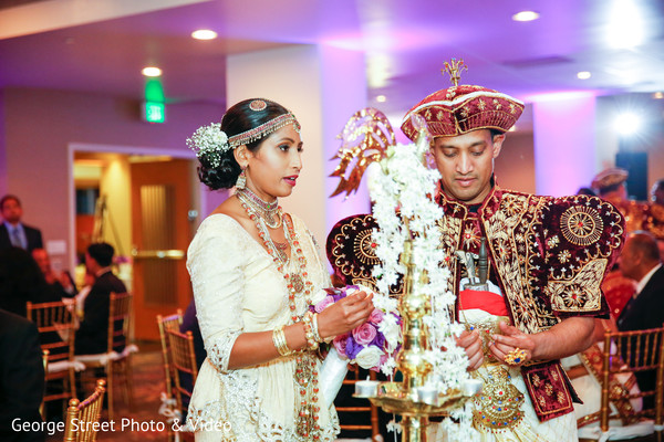 Traditional Sri Lankan Couple At Their Wedding Reception Photo 114463