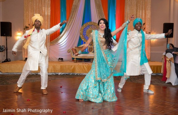 indian wedding reception,indian groom,indian bride,choreography