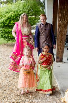 Sweet Indian flower girls.