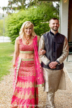 Indian fusion wedding guests.