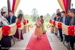 Indian flower girls entrance.