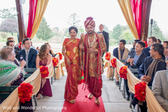 Indian groom's grand entrance.