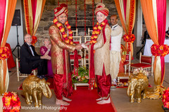 Heart melting same sex hindu wedding ceremony scene.