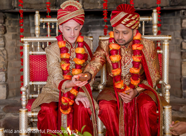 sacred fire,same sex indian fusion wedding,indian wedding ceremony