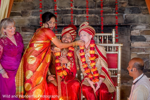 lgbt,red turban,same sex fusion wedding,indian wedding ceremony