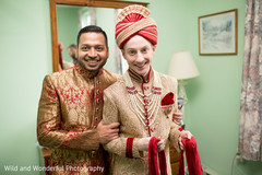 Gay Indian couple getting ready to say I do.