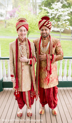 lgbt,groom fashion,same sex fusion indian wedding,indian groom fashion