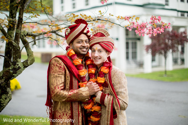 lgbt,same sex fusion wedding,indian groom fashion,gay couple