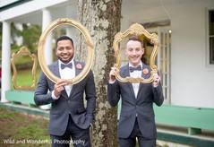 Glamorous Gay couple reception photo shoot.