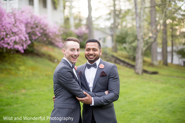 gay wedding,indian reception fashion,gay couple
