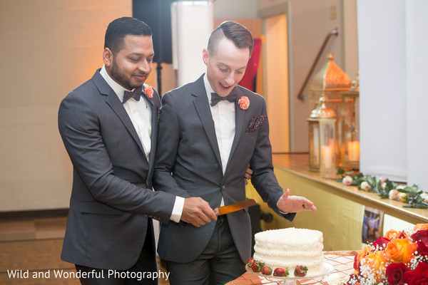 gay wedding,cakes and treats,indian wedding reception