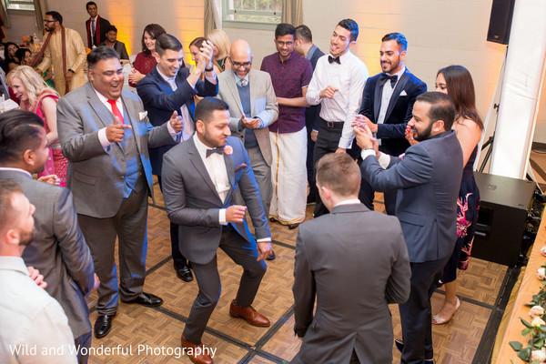 Indian gay wedding reception.