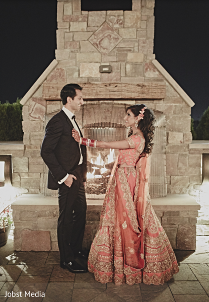 indian bride and groom portrait,indian bride and groom,indian bride lengha,indian groom suit