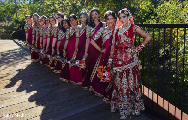 indian bride portrait,indian bridesmaids,indian bride fashion