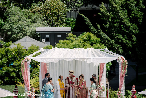 outdoor indian wedding,white mandap,mandap