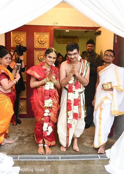 Indian couple's wedding portrait