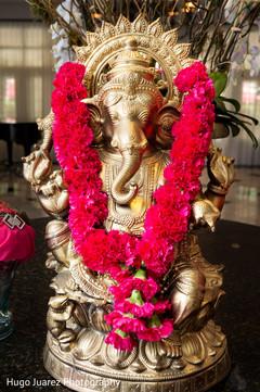 ganesha,indian statue,ganesha statue,wedding statue,murti,wedding murti,gold ganesha,floral,garland,garlands