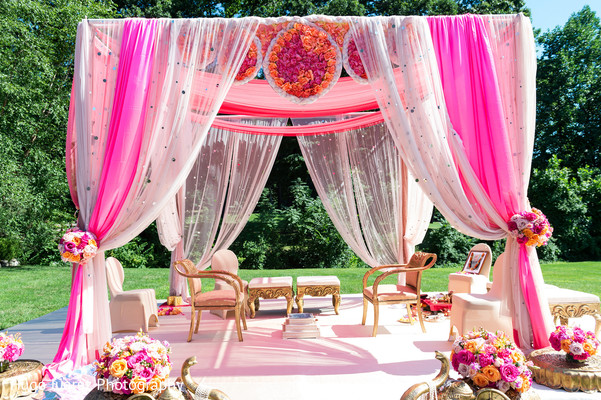 Indian Wedding Mandap in Pearl River, NY Indian Wedding by Hugo Juarez Photography