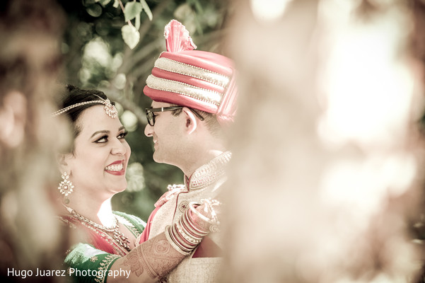 Wedding portrait in Pearl River, NY Indian Wedding by Hugo Juarez Photography