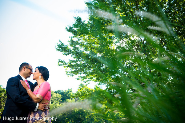 Indian Wedding Reception Portrait in Pearl River, NY Indian Wedding by Hugo Juarez Photography