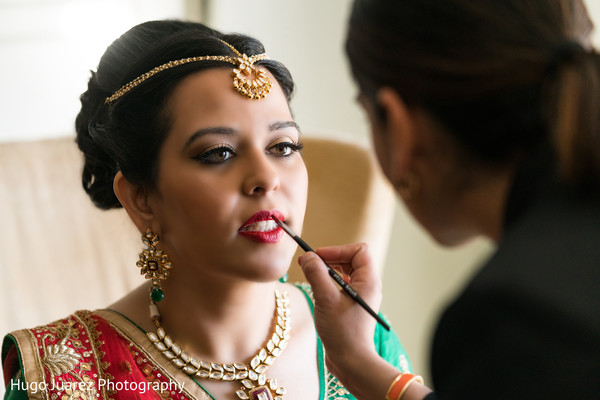 Bridal Beauty Look in Pearl River, NY Indian Wedding by Hugo Juarez Photography
